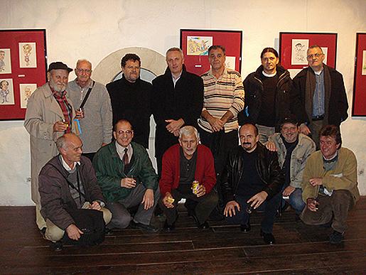 Na otvorenju godišnje izložbe karikatura članova hdk kula